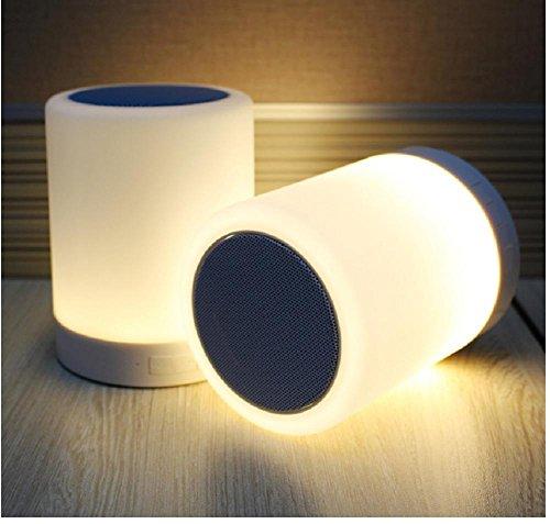 Lampes de Bureau Lampe de Table Intelligent Audio Nuit Musique Bluetooth Rechargeable Lampe LED lumières colorées