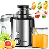 Home Centrifugal Juicer Electric Juice Extractor for Whole Fruit Citrus Vegetables Stainless Steel
