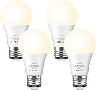 Smart Light Bulb Dimmable - Aoycocr A19 E26 Soft White 2700K RGBW Color Changing Lights Bulb Work with Alexa Google Home, No Hub Required, 750 Lumens, 7.5 (65W Equivalent)
