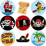 Fancy Land Pirate perforiertes Rollen Aufkleber für Kinder 200Pcs Geburtstags-Party Favor Dekoration