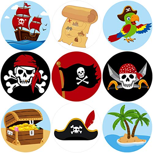 Fancy Land Pirate perforiertes Rollen Aufkleber für Kinder 200Pcs Geburtstags-Party Favor Dekoration