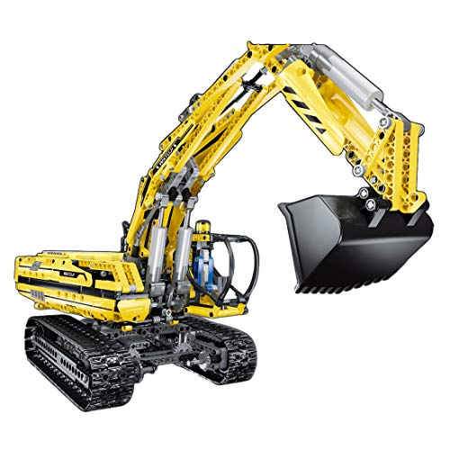 ColiCor Technic - Juego de bloques de construcción para excavadoras (1239 unidades, 2,4 g, control remoto, con 3 motores, compatible con Lego Technic)