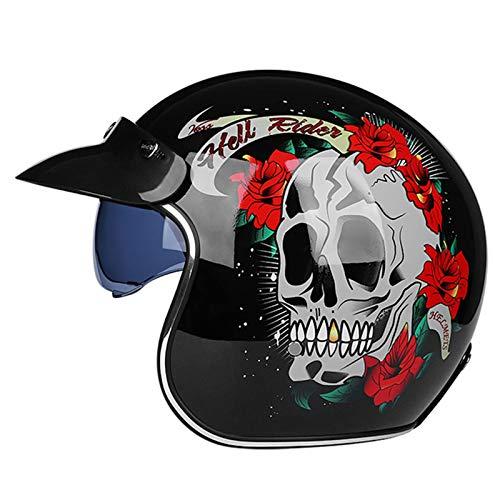 casco scooter offerta GAOZHE Classic Caschi Cromwell retrò Casco Scodella