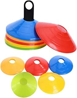 IROCH 50 Pack Soccer Cones Disc Cone Sets with Holder and Bag for Training, Field Cone Markers Football, Kids, Sports,