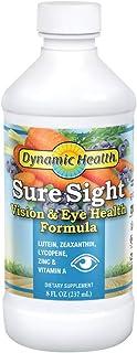 Dynamic Health Sure Sight | Liquid Vision & Eye Health Support Formula | Lutein, Zinc, Vitamin A & More | Vegetarian, No G...