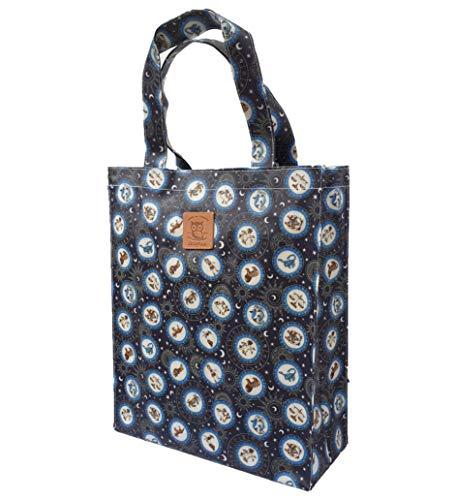 SturdyFoot Einkaufstasche, Büchertasche mit, Musik Tasche, Tragetasche, Wasser imprägniertes Wachstuch Tragetasche