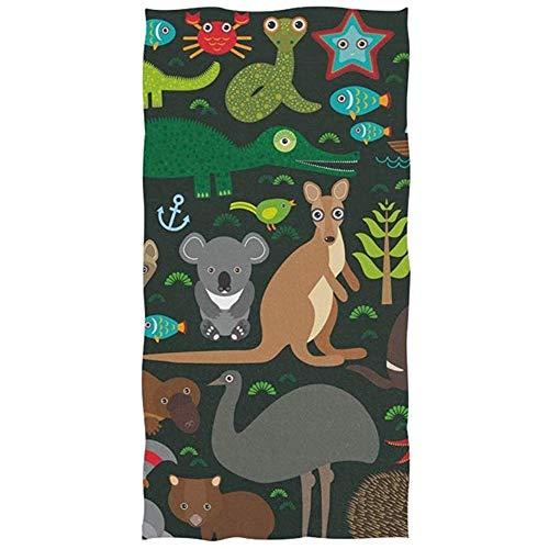 MJDIY Toallas De Baño,Ornitorrinco Animales Australia Colorido Hermoso Adulto Toallas De Baño para Deporte Gimnasio Correr