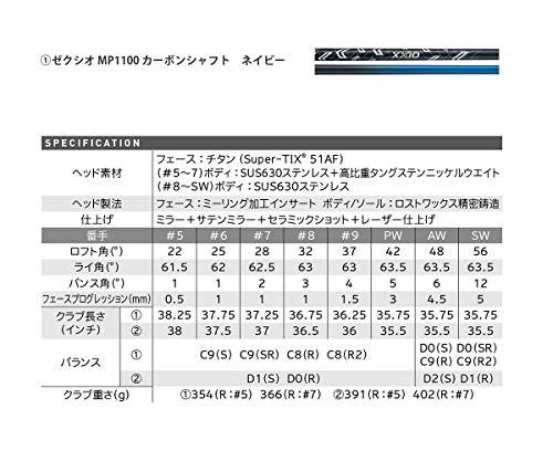 DUNLOP(ダンロップ)XXIOゼクシオイレブンアイアン単品MP1100シャフトカーボンメンズ右ネイビーロフト角:48度番手:AWフレックス:SRゴルフクラブ