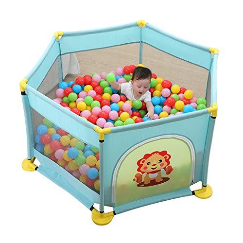 Clôture de jeu pour Enfants Piscine À Balles Marine Barrière De Protection pour La Sécurité des Enfants en Intérieur Aire De Jeux Intérieure Parc De Jeu (Color : Blue, Size : 130x130x64cm)