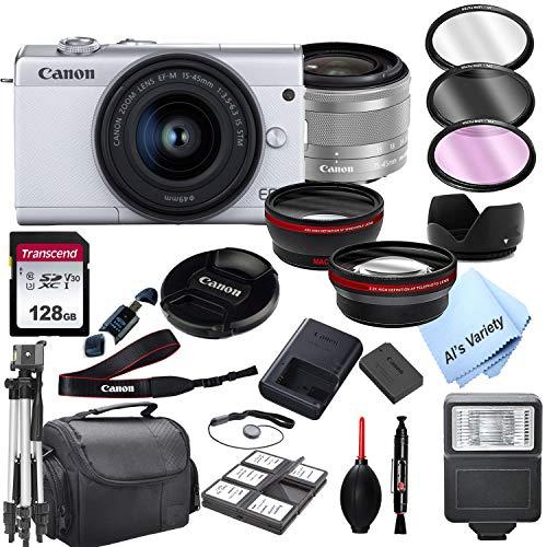 Canon EOS M200 (White) Mirrorless Digital Camera...