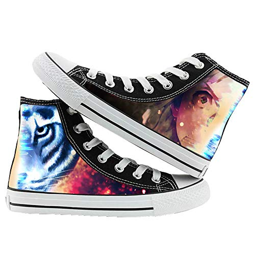 JPTYJ Bungo Stray Dogs Alpargatas para Hombre Anime High Top Canvas Shoes Sneakers Trainers Cosplay Botines para Hombres Mujeres C-43