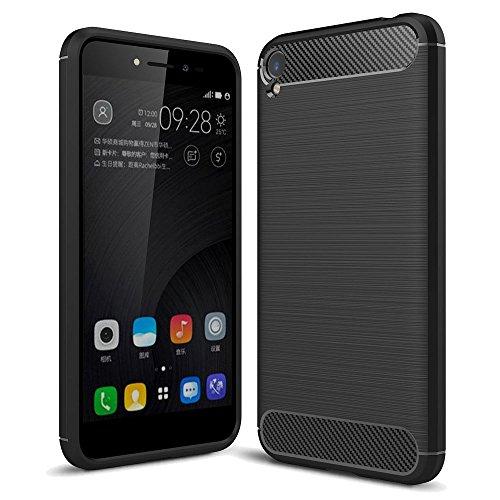 König Design Handy-Hülle kompatibel mit Asus Zenfone Live ZB501KL Silikon Hülle Hülle Sturzsichere Back-Cover Handyhülle - Carbon - Schwarz