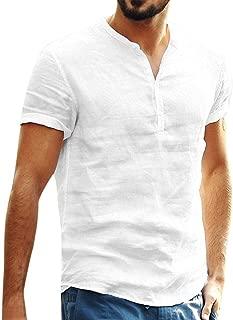 Camisa Lino Hombre Casua SHOBDW 2020 Nuevo Camisetas Hombre