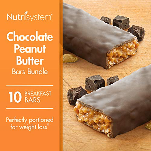 Nutrisystem Chocolate Peanut Butter Bars Bundle, 10 Count Bars