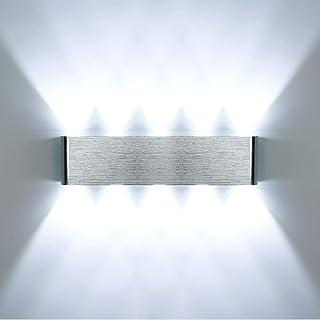 HAWEE Moderno Applique da Parete LED Lampada da Parete Alluminio LED Lampada da Muro Interno per Camera da Letto Scale Cor...