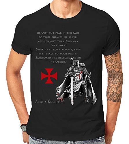 Scralandore Design Camiseta Caballero Templario Cristiano Guerrero Rel