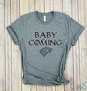 Baby is Coming, Game of Thrones Shirt, Maternity Pregnancy Shirt, Preggers Shirt, Baby Shower Gift, House Stark Winter is Coming Maternity shirt