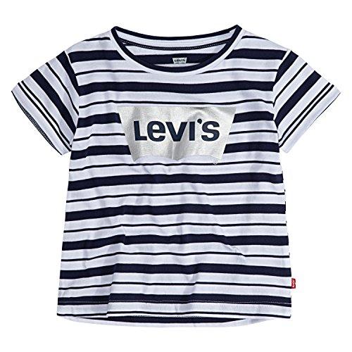 Levi's Boxy Graphic T-Shirt Camiseta, con Rayas índicas, 4 años para Niñas