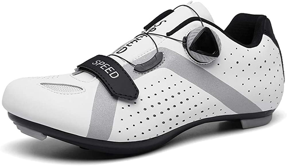 BETOOSEN Road Cycling Spin Shoes Mens Womens with Quick lace Compatible SPD Cleats Self-Locking