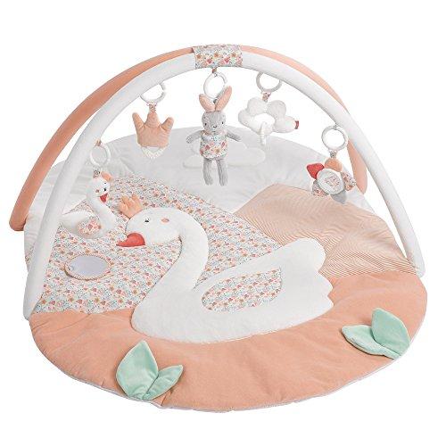 Fehn 062144 3-D-Activity-Decke Schwanensee | Spielbogen mit 5 abnehmbaren Spielzeugen für Babys Spiel & Spaß von Geburt an | Maße: 80x105cm