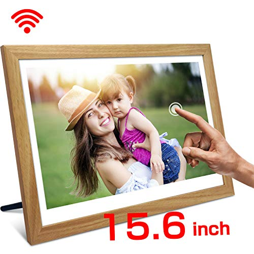 SSA 15.6 Inch WiFi Digital Photo Frame with Full HD 1920x1080 IPS Touch Screen 16GB- Share Picture Video Instantly via App Facebook Twitter Email from Anywhere, Wall Mountable LCD Advertising Player Digital Frames Picture