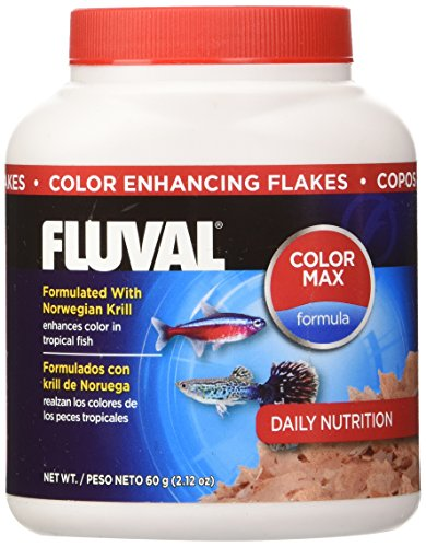Fluval Color Enhancing Flakes Fish Food 60gm, 2.12-Ounce
