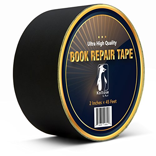 Bookbinding Tape, Black Cloth Book Repair Tape for Bookbinders, 2 Inches by 45 Feet