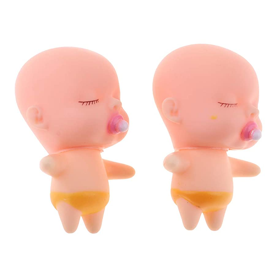 オプションクリップ寝てるSharplace スリーピングドールペンダント 赤ちゃん人形 可愛い赤ちゃん ベイビードール 誕生日プレゼント 2個入