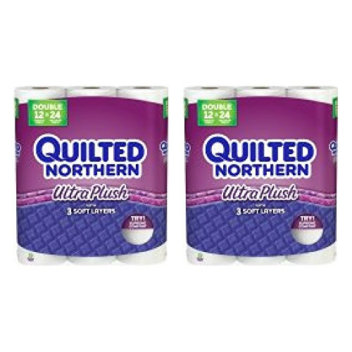 Quilted Northern Ultra Plush Toilet Paper, Bath Tissue (24 Double Rolls)