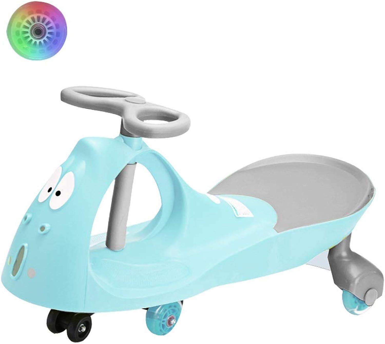 Kinder Twist Car 1-3-6 Jahre alt stumm rad kinderwagen yo auto lange auto schaukel auto spielzeugauto roller Xuan - worth having (Farbe   Light Blau, Größe   Flash wheel)