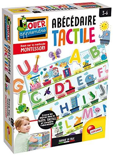 Lisciani – Montessori L'Alphabet Tactile - Jeu éducatif pour enfants à partir de 3 ans – FR72446