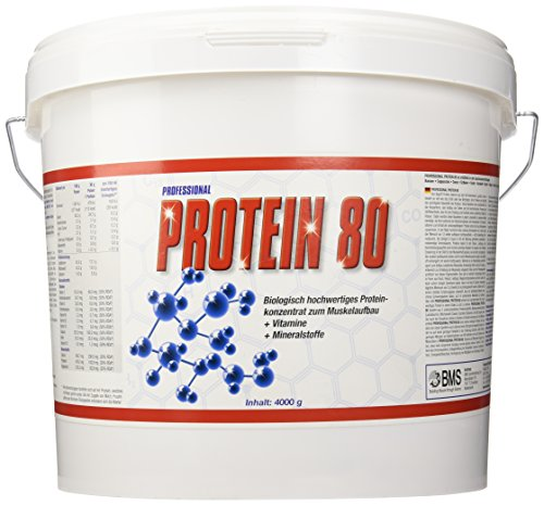 BMS Professional Protein 80 Vanille, 1er Pack (1 x 4 kg)