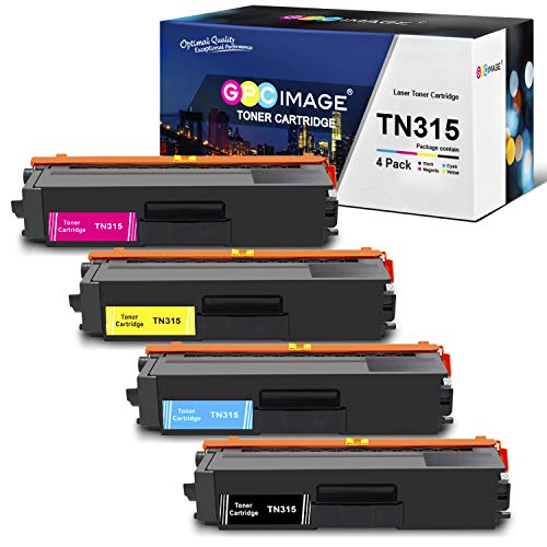 GPC Image Compatible Toner Cartridge Replacement for Brother TN315 TN 315 TN315BK TN310 to use with HL-4150CDN MFC-9970CDW HL-4570CDW MFC-9460CDN Printer (1 Black,1 Cyan,1 Magenta,1 Yellow, 4-Pack)