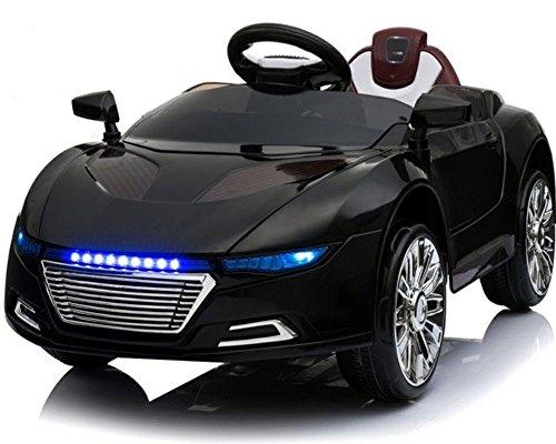 Toyas Kinder Elektro Auto Sportwagen Cabrio Kinderfahrzeug mit Fernbedienung MP3 LED schwarz*