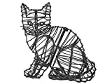 Greenpiece Sitting Kitten Topiary Frame - 9' - Wired