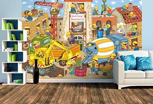 Premium Foto-Tapete Achtung Baustelle (versch. Größen) (Size L | 372 x 248 cm) Design-Tapete, Wand-Tapete, Wand-Dekoration, Photo-Tapete, Markenqualität von ERFURT