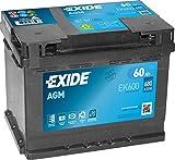 Batteria Auto 12V, 60AH, AGM Exide Start Stop o 1510320