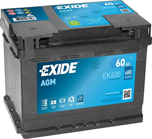 EXIDE AGM PKW Starter-Batterie, Schwarz