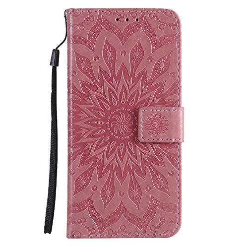 Leather Wallet Case for Huawei Enjoy20 Pro/Enjoy Z 5G PU Leather Wallet Phone Case Flip TPU Shockproof Shell Slim Fit Protective Cover for Enjoy20 Pro/Enjoy Z - EYKT032999 Pink