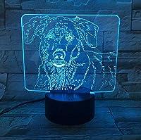 3DLEDかわいいラブラドール犬のナイトライト赤ちゃん動物のライト家の装飾のためのテーブルランプBluetooth付きクリスマスギフト