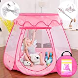 Pop Up Princess Tent with 5 Meters Light String, Gentle Monster Girls Play Tent...
