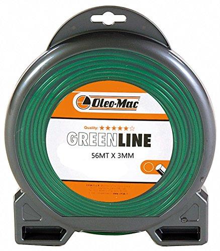 Greenline - Hilo profesional de corte redondo para desbrozadora, 56 m x...
