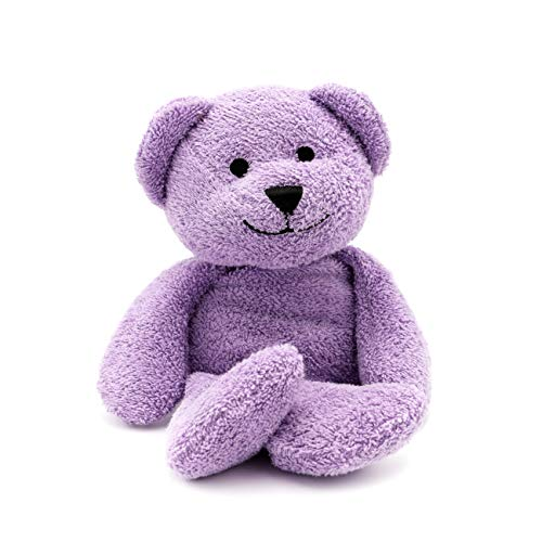 Thermal-Aid Zoo — Tumble The Lavender Bear — Kids Hot and Cold Pain Relief Heating Pad Microwavable Stuffed Animal and Cooling Pad — Easy Wash, Natural Sleep Aid — Pregnancy Must-Haves for Baby