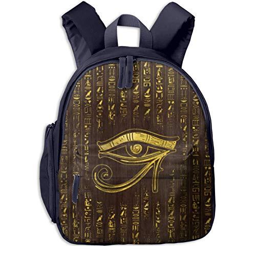 XCNGG Mochila para niños Mochila para niños Bolsos para niños Kids Backpack 3d Golden Egyptian Eye Of Horus Hieroglyphics Preschool Kindergarten Bags Rucksack Casual Daypack For Children Toddler Girls
