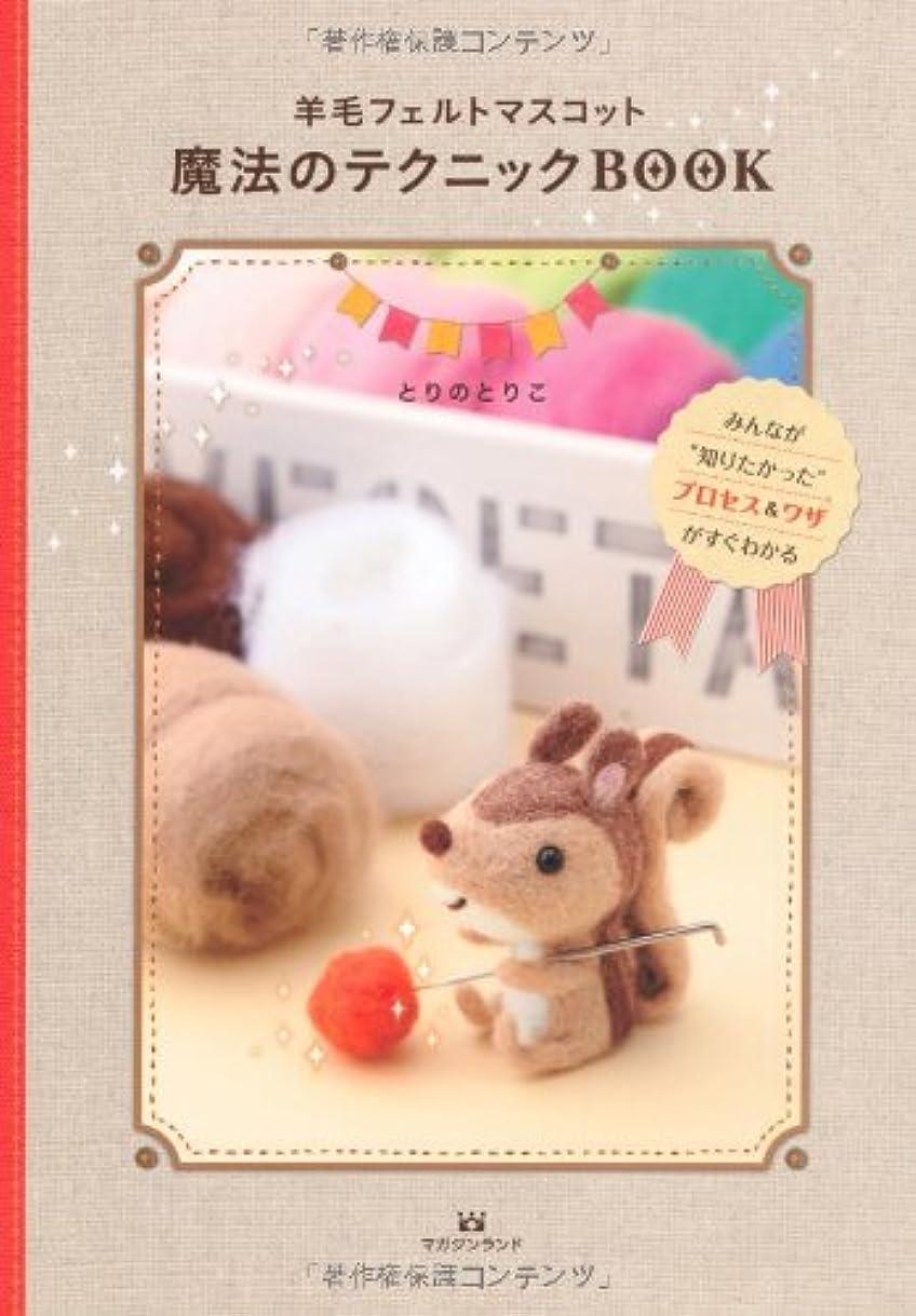 温かい検出吸収剤羊毛フェルトマスコット魔法のテクニックBOOK