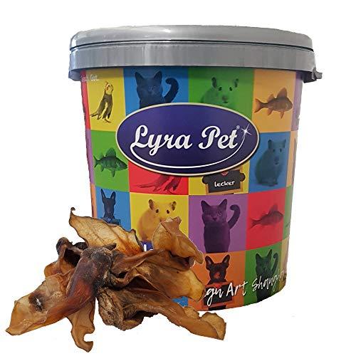 Lyra Pet® 100 Rinderohren ca. 3 kg Hundeleckerli wie Schweineohren in 30 L Tonne