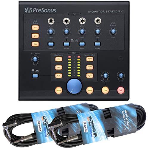 Presonus Monitor Station V2 Monitor- Kopfhörer-Controller + Keedprum 2x Klinkenkabel