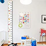 Children Height Chart,Growth Wall Chart,Kids Growth Chart for Kids Bedroom Nursery Wall Decorations (B)