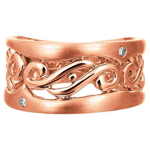 [ココカル]cococaru ダイヤ リング ダイヤモンドリング 指輪 10金 10k K10 ゴールド ギフト 記念日 プレゼント (ピンクゴールド 19)