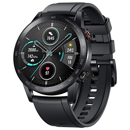 """HONOR Smartwatch Magic Watch 2 46mm (hasta 2 Semanas de Batería, Pantalla Táctil AMOLED de 1.39"""", GPS, 15 Modos Deportivos, Llamadas Bluetooth) para Hombre Mujer, Negro Carbón"""